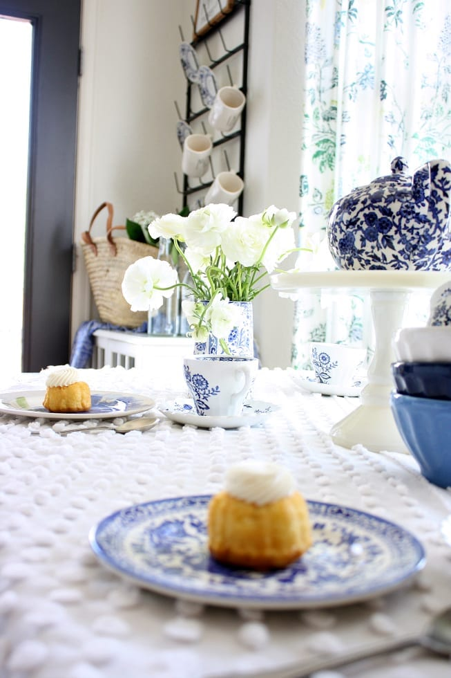 A blue and white tea party.