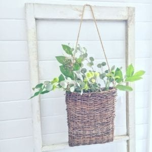 Vintage window basket