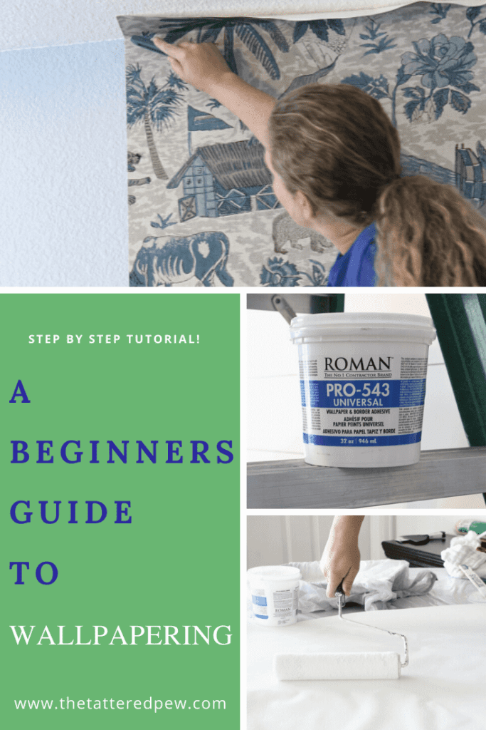 A beginners guide to wallpapering that will walk you through the steps!