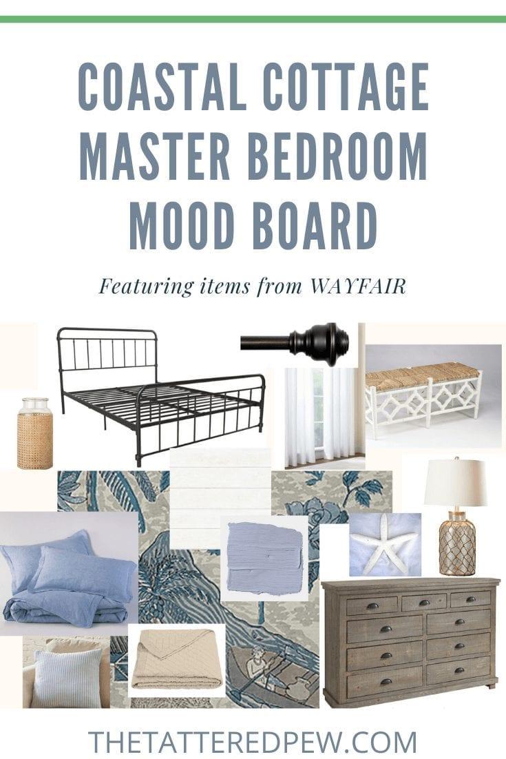 Coastal Cottage Master Bedroom Mood Board