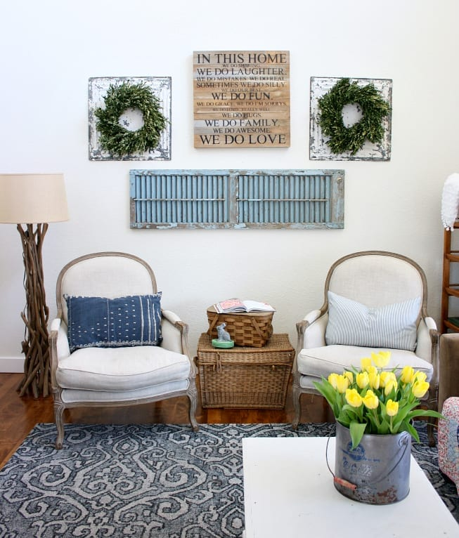 Family Room Makeover Spring Edition