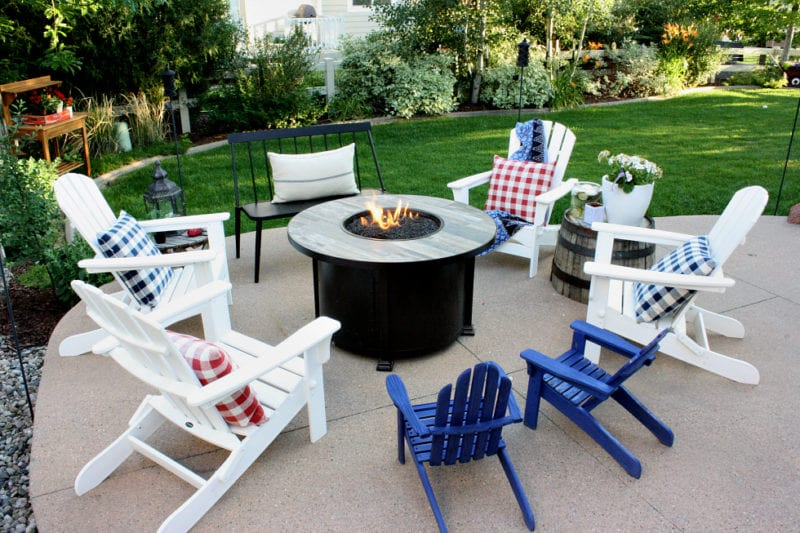 Affordable and stylish patio furniture with a coastal feel are arranged perfectly for Summer entertaining.
