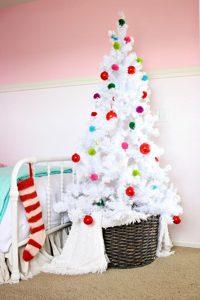 The Tattered Pew: A girls Colorful Christmas Bedroom