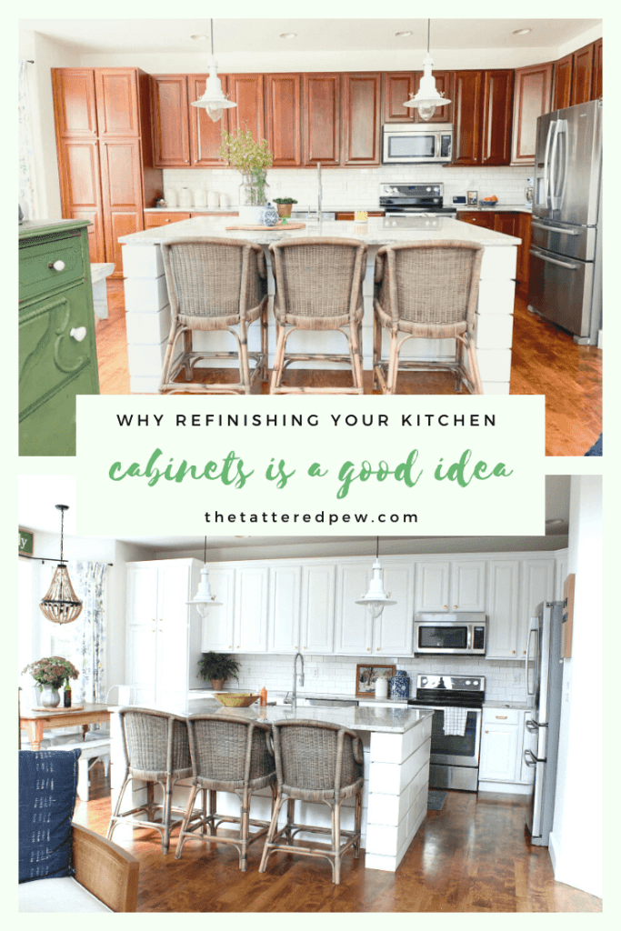 Come read all about why refinishing you kitchen cabinets is a good idea!