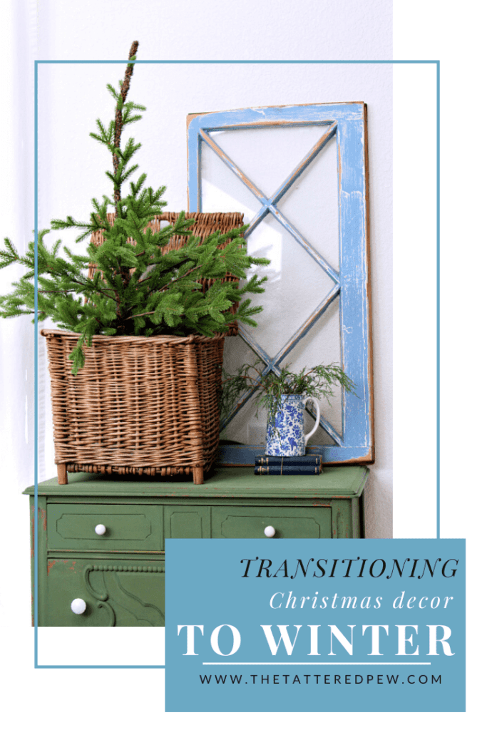 Transitioning your Christmas decor to winter decor is easy using these tips and tricks!